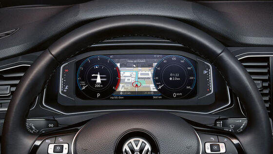 vw volkswagen t-roc active info display